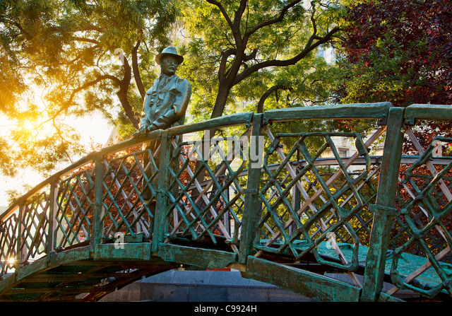 Budapest, The statue of Imre Nagy, Prime Minister of Hungary - Stock Image