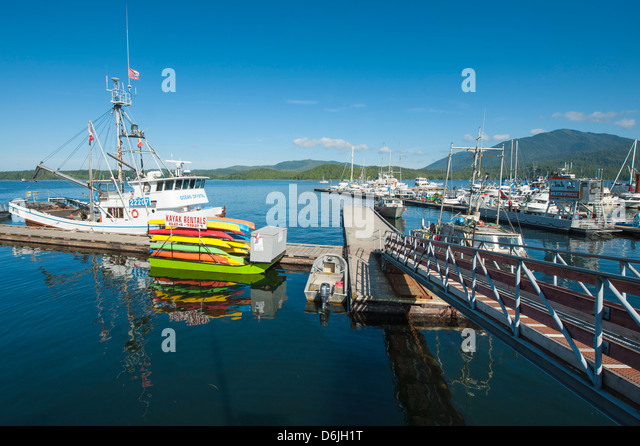 Prince Rupert harbour, British Columbia, Canada, North America - Stock Image