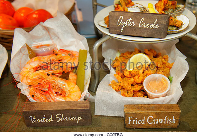 New Orleans Louisiana French Quarter National Historic Landmark Historic French Market local products shopping dining - Stock Image