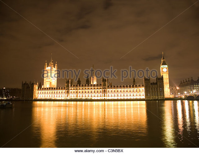 Houses of Parliament and Big Ben, night - Stock Image