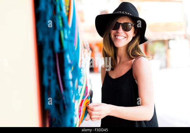 Woman at market - Stock Image