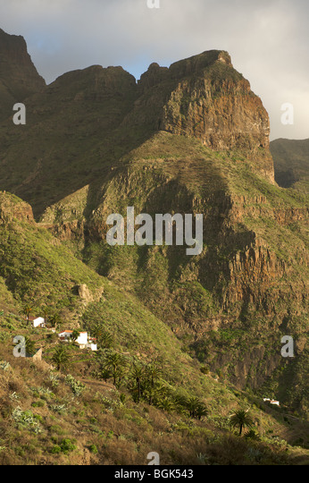 Wiew from Masca, Tenerife, Canary Islands - Stock Image