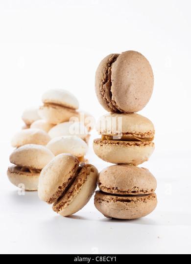 Mini macaroons - Stock Image
