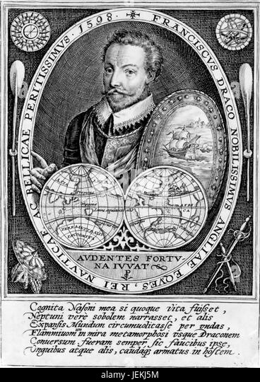 FRANCIS DRAKE (c 1540-1596) English sailor, privateer and explorer - Stock-Bilder