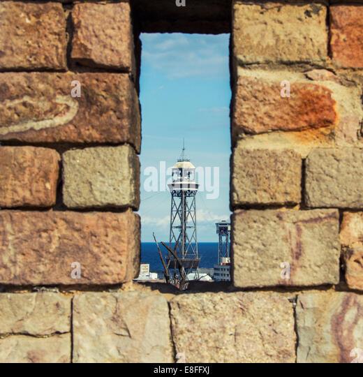 Port through hole - Stock Image