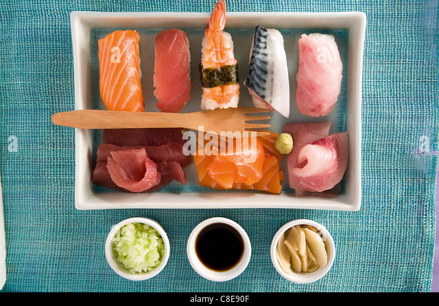 Assorted sushis - Stock Image