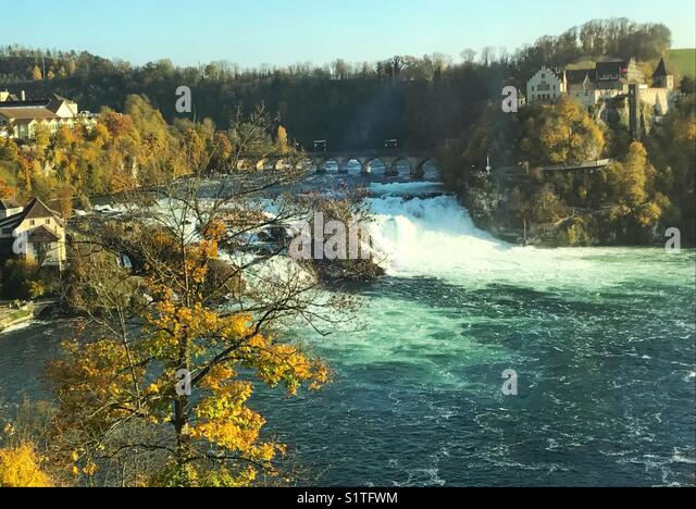 Rhine falls in Switzerland - Stock Image