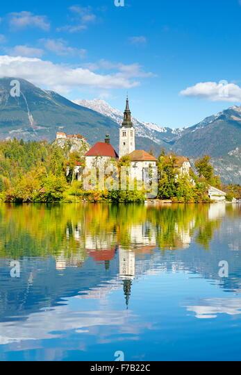 Lake Bled, Slovenia - Stock Image