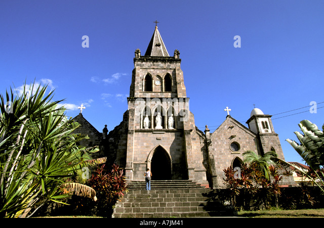 Dominica West Indies Caribbean Roseau Our Lady of Fair Haven Church - Stock Image