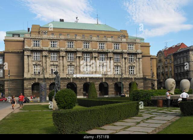 Charles University - Faculty of Arts building in Prague Czech Republic - Stock-Bilder