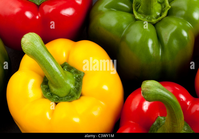 Bell Pepper close up for background - Stock Image