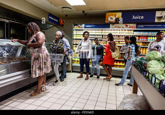 Cape Town South Africa African City Centre center Pick n Pay grocery store supermarket inside interior - Stock Image
