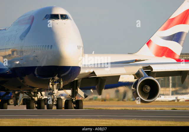 Boeing 747 British Airways - Stock Image