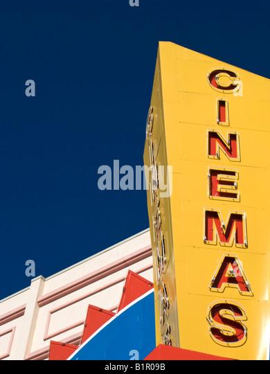 Movie Theatre Sign - Stock Image