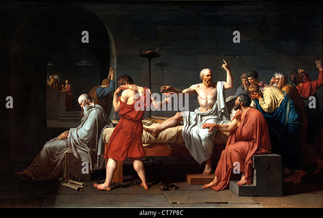 an evaluation of the neoclassical style of jacques louis davids the death of socrates Essay the art of jacques louis david embodies the style known as  neoclassicism  2009423 ) and distant civilizations (the death of socrates   3145 ).