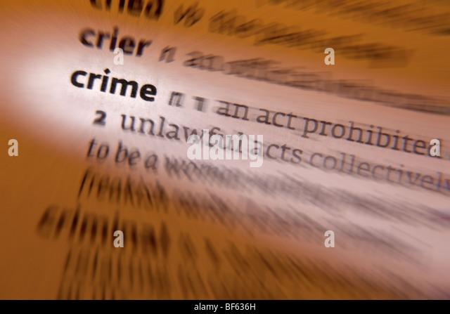 Concept - Crime - Stock Image