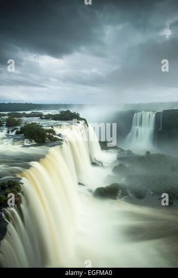 Garganta do Diablo, Foz do Iguaçu, Parque Nacional do Iguaçu, Brazil - Stock Image