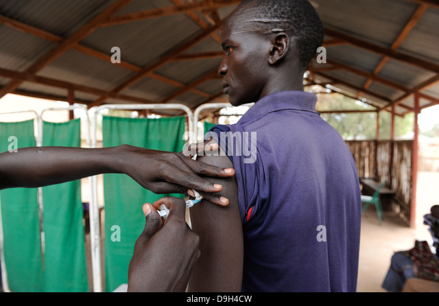 SOUTHERN SUDAN Lakes state, Rumbek , health center , vaccination and immunization - Stock Image