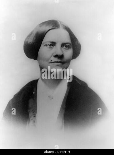 Lucy Stone (August 13, 1818 - October 19, 1893) was a prominent American abolitionist and suffragist, and a vocal - Stock Image