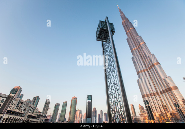 Burj Khalifa, Dubai, United Arab Emirates, Middle East - Stock Image