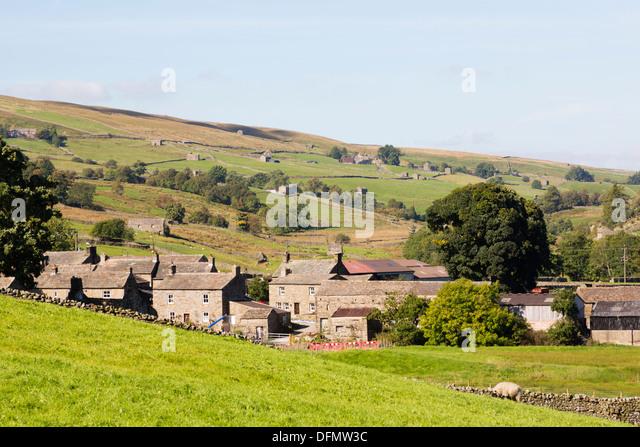 Swaledale village of Twaite.Yorkshire Dales - Stock Image