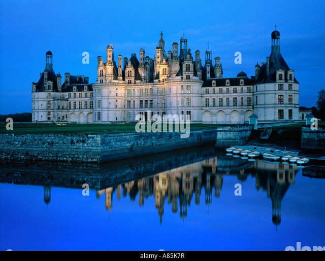 CHATEAU CHAMBORD CASTLE LOIRE VALLEY FRANCE - Stock Image