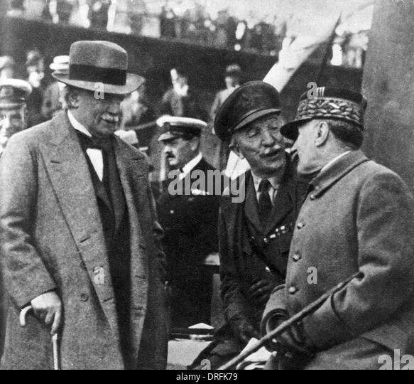 Lloyd George, General Wilson and General Foch - Stock Image