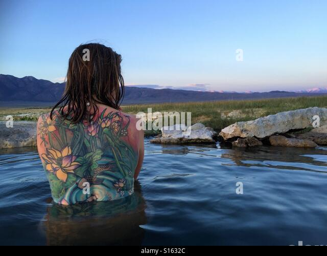 Tattoo hot spring - Stock Image