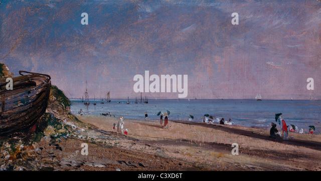 Brighton Beach, by John Constable. Sussex, England, 1824 - Stock-Bilder