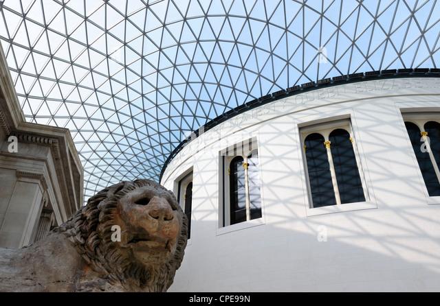 Great Court, British Museum, Bloomsbury, London, England, United Kingdom, Europe - Stock Image
