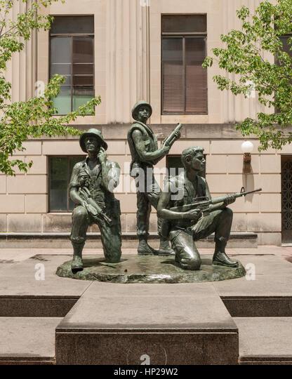 Vietnam War Veterans statue at Legislative Plaza, Nashville, Tennessee - Stock Image