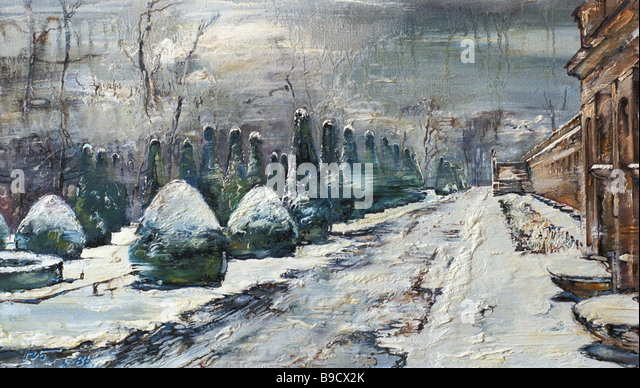A winter park near Warsaw by Pavel Borisov reproduction - Stock Image