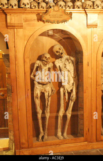 The Famous skeletons of  Urbania in the  Le Marche ,Italy ,are a great tourist attraction. - Stock Image