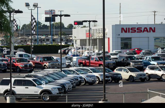 Used car lot usa stock photos used car lot usa stock for Tri city motor sales