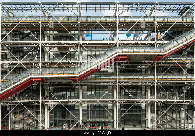 The Centre Georges Pompidou building in central Paris. - Stock Image
