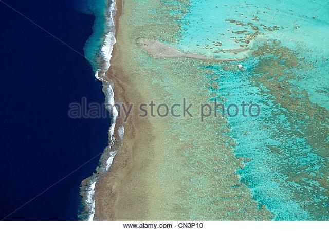 Aerial, Bora Bora, French Polynesia - Stock Image