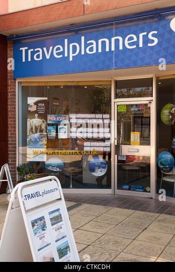 Travelplanners high street travel agency shop - Stock-Bilder