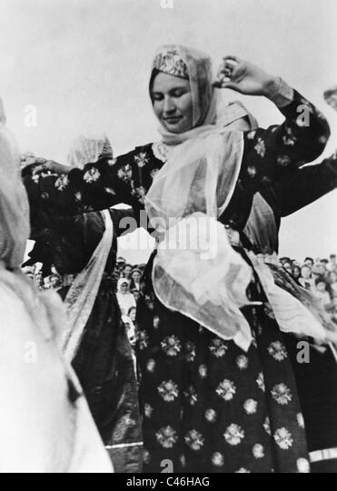 Second World War: Russian population - Crimean Tatars, Cooperation with the Germans - Stock Image