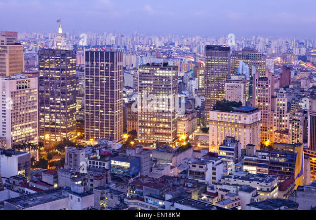 Geography/travel, Americas, South America, Brazil, Sao Paulo, city centre from - Stock Image