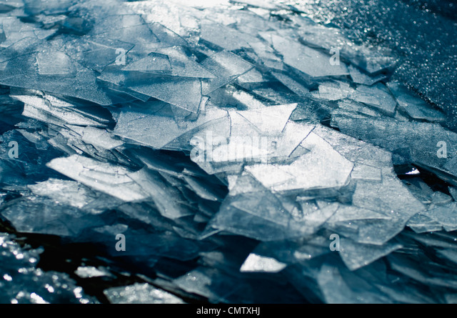 Broken ice - Stock Image
