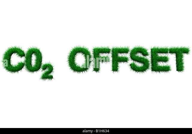 Carbon offset sign - Stock Image