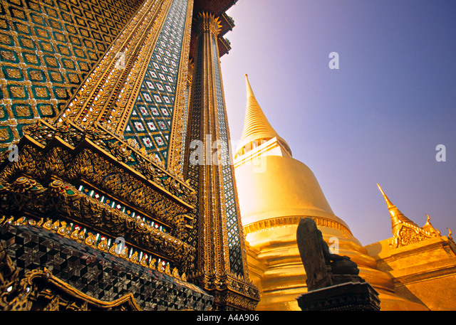 Wat Phra Kaeo, Grand Palace, Bangkok, Thailand - Stock Image