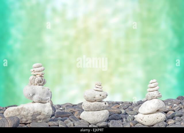 Coral heaps on stones, Zen spa concept background. - Stock-Bilder