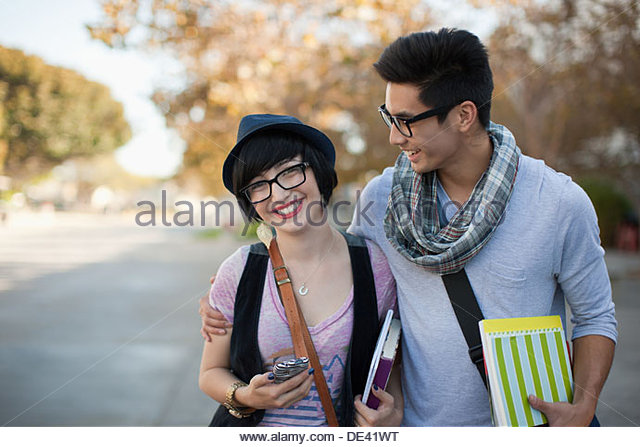 Two students, portrait - Stock-Bilder