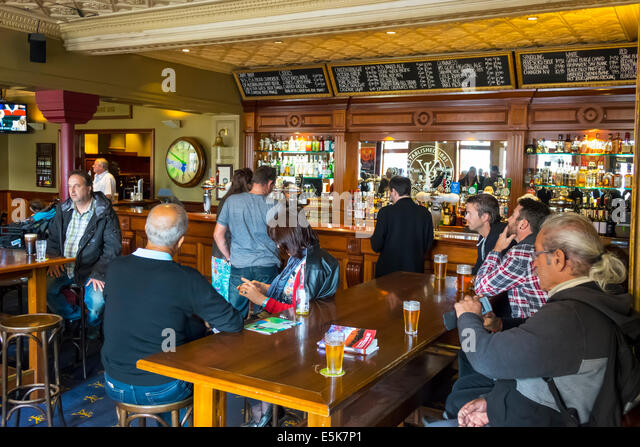 Melbourne Australia Victoria Central Business District CBD Flinders Street Young and Jackson Bar & Brasserie - Stock Image