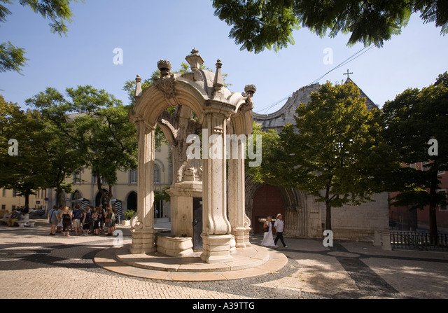 Portugal Lisbon Largo do Carmo Barrio Alto - Stock Image