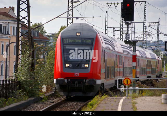 Double decker train germany stock photos double decker for Berlin to dresden train