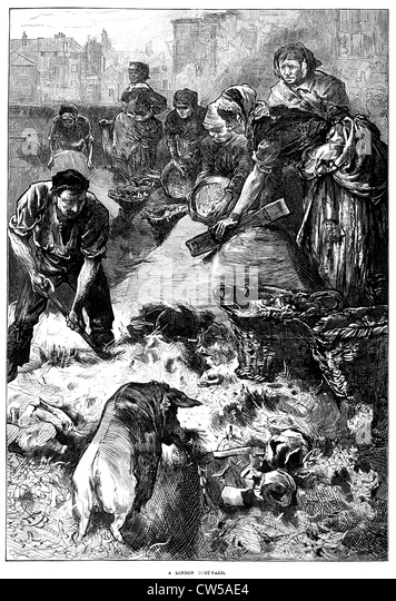 A London pigsty in 'The Illustrated London News' - Stock Image