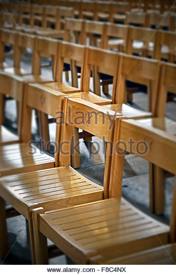 cathedral chairs - Stock Image