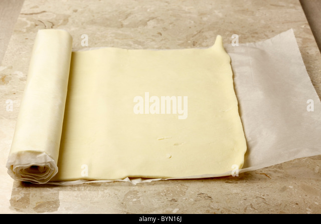 Ready rolled pastry - Stock Image